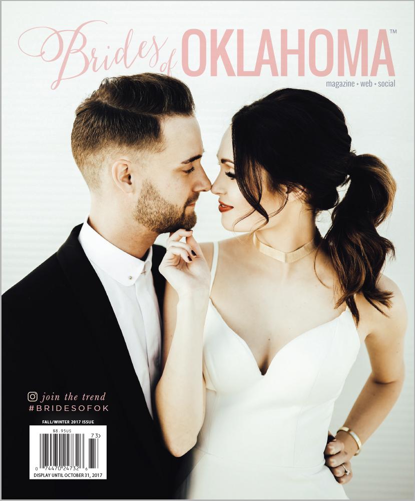 Brides of Oklahoma Magazine Spring/Summer 2017 10th Anniversary Cover - Best wedding vendors for Oklahoma Brides